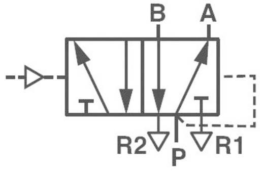 Norgren V50A5D3A-XA090 Mechanisch bedienbaar pneumatisch ventiel 5/2-weg 24 V/DC G 1/8 Materiaal (behuizing) Aluminium Afdichtmateriaal NBR