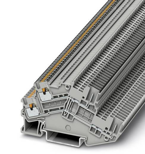 Phoenix Contact PTTBS 1,5/S/2P-PV PTTBS 1,5/S/2P-PV - tweelaags randaardeleidingklem Grijs Inhoud: 50 stuks