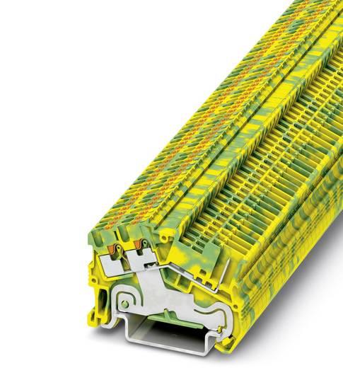 Phoenix Contact PTS 1,5/S-TWIN/1P-PE PTS 1,5-S-TWIN/1P-PE - Randaarde-serieklem Groen-geel Inhoud: 50 stuks
