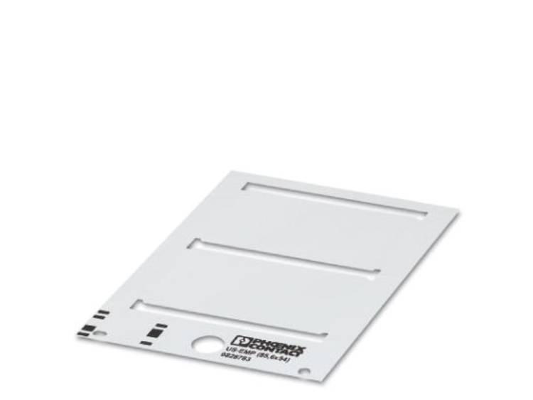 Apparaatmarkering Montagemethode: Vastklemmen Markeringsvlak: 44 x 7 mm Geschikt voor serie Frames Wit Phoenix Contact US-EMP (44X7) 0829438 Aantal