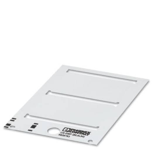 Apparaatmarkering Montagemethode: Vastklemmen Markeringsvlak: 85.60 x 54 mm Geschikt voor serie Frames Zilver Phoenix Co