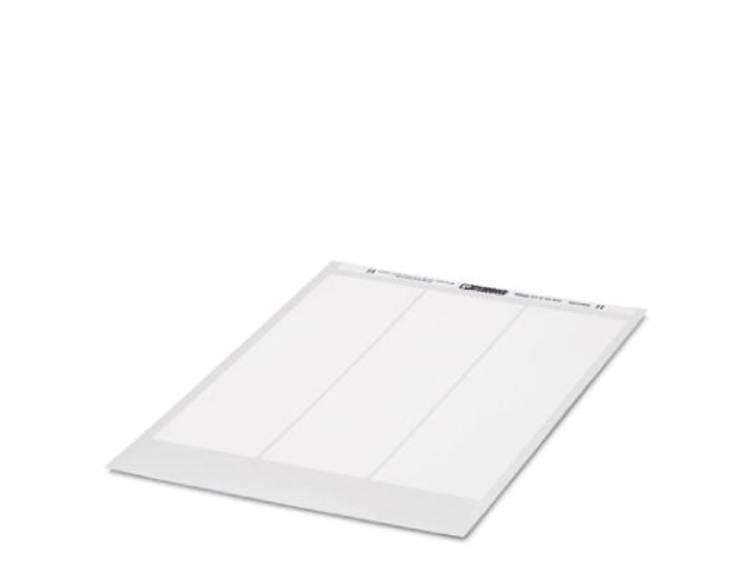 Apparaatmarkering Montagemethode: Plakken Markeringsvlak: 18 x 27 mm Geschikt voor serie Componenten en schakelsystemen, Universeel gebruik Zilver Phoenix