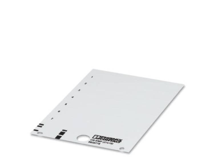 Apparaatmarkering Montagemethode: Vastklemmen Markeringsvlak: 27 x 12.10 mm Geschikt voor serie Frames Wit Phoenix Contact US-EMP (27X12,5) 0828776 Aantal