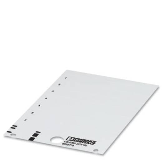 Apparaatmarkering Montagemethode: Vastklemmen Markeringsvlak: 25 x 6 mm Geschikt voor serie Frames Wit Phoenix Contact U