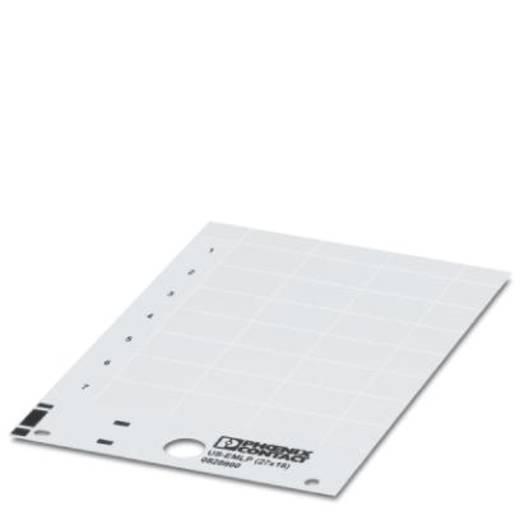 Apparaatmarkering Montagemethode: Plakken Markeringsvlak: 60 x 15 mm Geschikt voor serie Componenten en schakelsystemen
