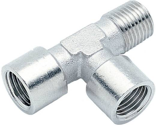 "ICH 40503 T-Zij-Inschroefkoppeling konisch R1/4""Bu x G1/4""Bi x G1/4""Bi"