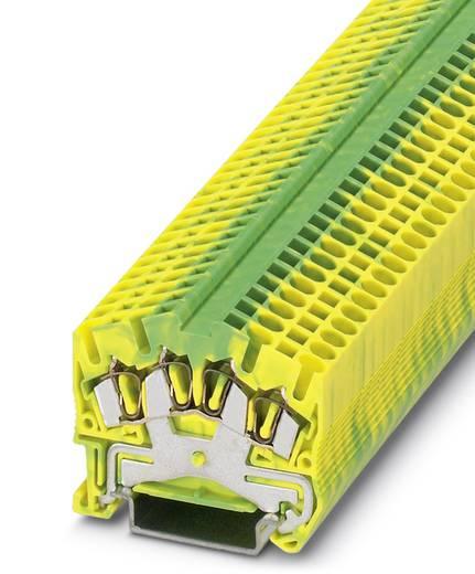 Phoenix Contact STS 2,5-QUATTRO-PE STS 2,5-QUATTRO-PE - doorgangsserieklem Groen-geel Inhoud: 50 stuks