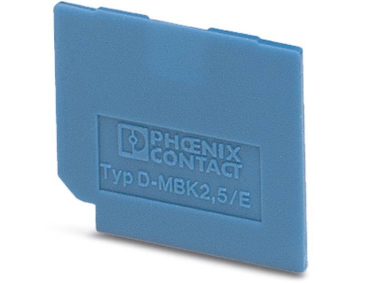 D-MBK 2,5/E BU - afsluitdeksel D-MBK 2,5/E BU Phoenix Contact Inhoud: 50 stuks
