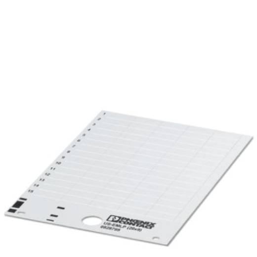 Apparaatmarkering Montagemethode: Plakken Markeringsvlak: 14 x 5 mm Geschikt voor serie Componenten en schakelsystemen Z