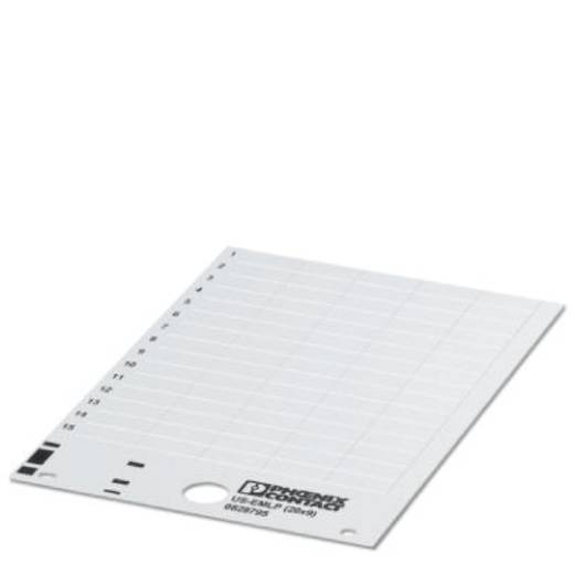 Apparaatmarkering Montagemethode: Plakken Markeringsvlak: 17 x 7 mm Geschikt voor serie Componenten en schakelsystemen W