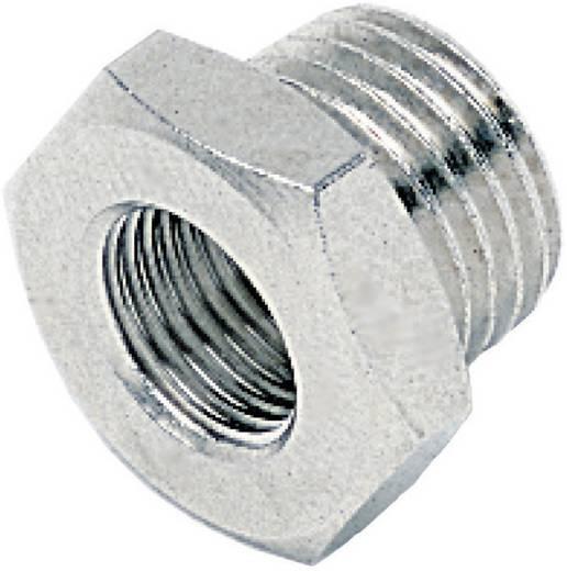 """ICH 401313 Verloop Nippel Parallel G1"""" Bu x G1/2"""" Bi Messing/Vernikkeld"""