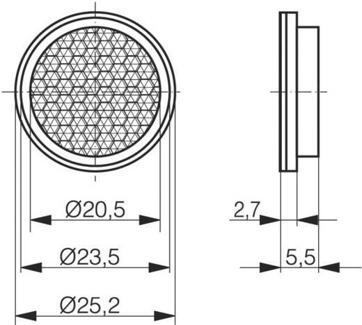 Contrinex LXR-0000-025 Reflector voor reflectie lichtsluizen van Contrinex Uitvoering (algemeen) Reflector rond (Ø x d)