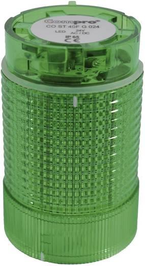 ComPro CO ST 40 Signaalzuilelement LED Groen Continu licht, Flitslicht, Zwaailicht 24 V/DC, 24 V/AC 75 dB
