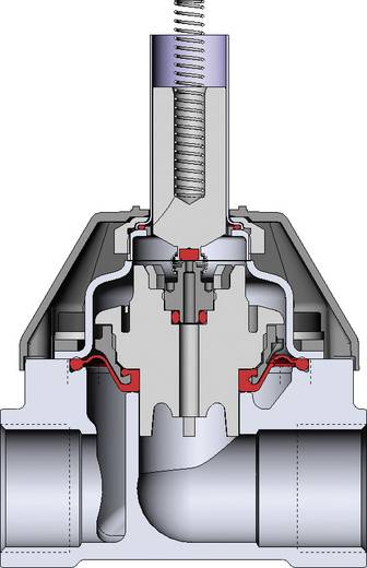Bürkert 221621 Servogestuurd ventiel 230 V/AC G 3/4 mof Nominale breedte 13 mm Materiaal (behuizing) Messing Afdichtmateriaal NBR