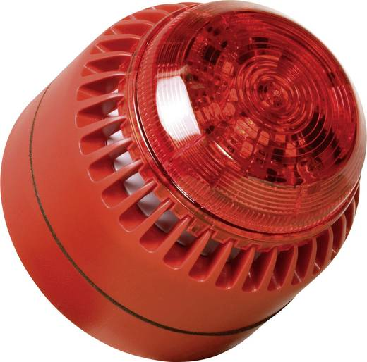 ComPro ROLP Solista Beacon Combi-signaalgever Rood Continu geluid 12 V/DC, 24 V/DC