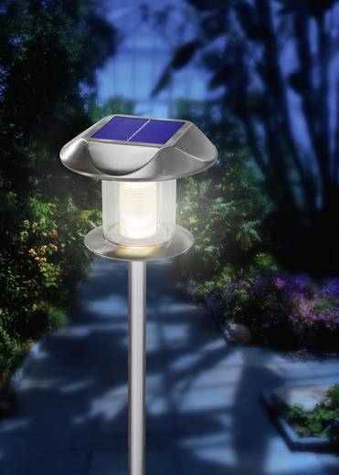 Solar inbouwlamp LED Warm-wit, Neutraal wit Esotec Sunny 102093 RVS