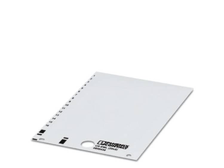 Apparaatmarkering Montagemethode: Plakken Markeringsvlak: 17 x 8 mm Geschikt voor serie Componenten en schakelsystemen Geel Phoenix Contact US-EML (17,5X8) YE