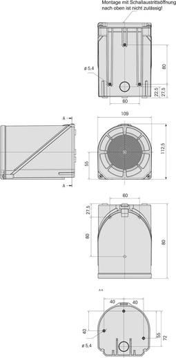 Werma Signaltechnik 444.110.68 Combi-signaalgever Rood 230 V/AC 114 dB