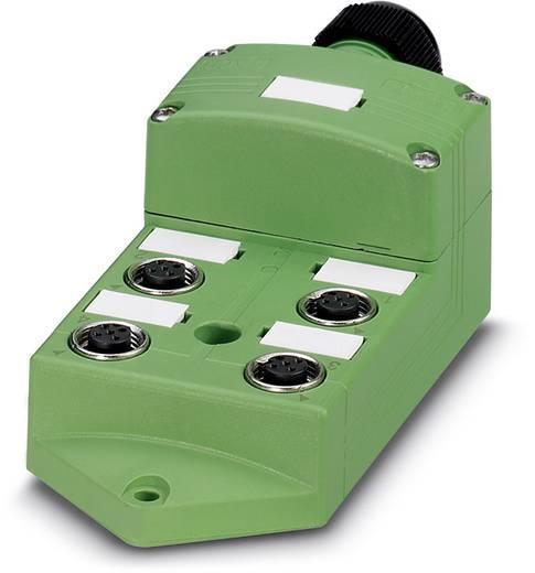 Passieve sensor/actorbox M12-verdeler met metalen schroefdraad SACB 08/04-
