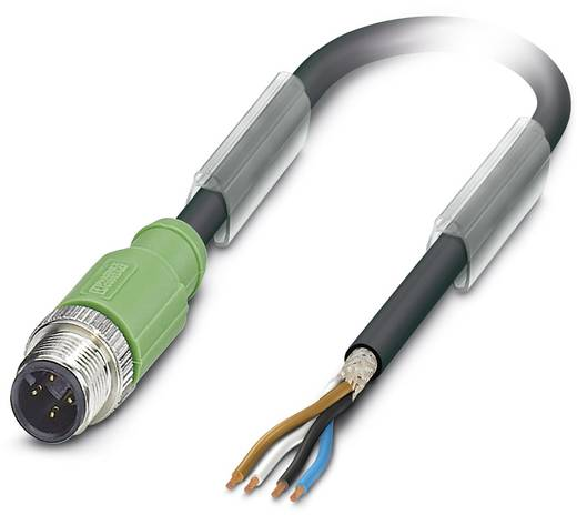 Phoenix Contact SAC-4P-M12MS/ 3,0-PUR SH Sensor-/actorkabel Inhoud: 1 stuks