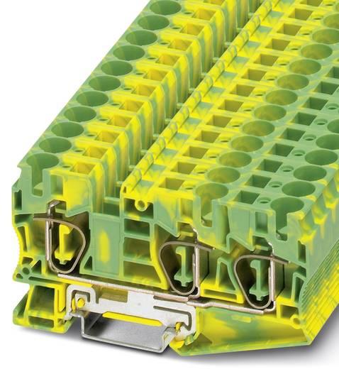 Phoenix Contact ST 10-TWIN-PE ST 10-TWIN-PE - randaarde-serieklem Groen-geel Inhoud: 25 stuks