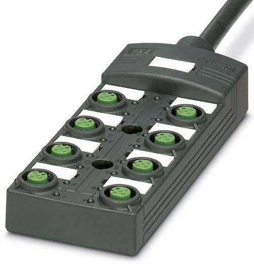 Passieve sensor/actorbox M12-verdeler met kunstof schroefdraad SACB-8/8-L