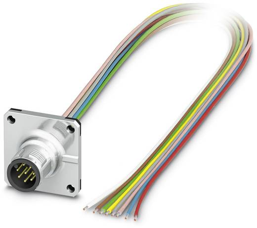 Phoenix Contact SACC-SQ-M12MS-8CON-20/0,5 SACC-SQ-M12MS-8CON-20/0,5 - inbouwconnector Inhoud: 1 stuks