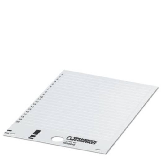 Klemmarkering Montagemethode: Vastklemmen Markeringsvlak: 10 x 6.60 mm Geschikt voor serie Universeel gebruik Wit Phoeni