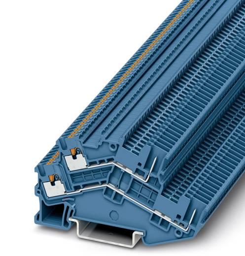 Phoenix Contact PTTBS 1,5/S/2P BU PTTBS 1,5/S/2P BU - tweelaags randaardeleidingklem Blauw Inhoud: 50 stuks