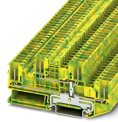 Phoenix Contact STTB 2,5/4P-PE STTB 2,5/4P-PE - dubbellaagse aardleidingklem Groen-geel Inhoud: 50 stuks