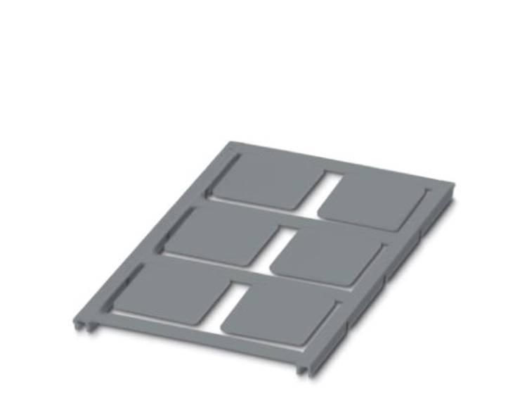 Apparaatmarkering Montagemethode: Plakken Markeringsvlak: 27 x 27 mm Geschikt voor serie Universeel gebruik Zilver Phoenix Contact UC-EMLP (27X27) SR 0825483