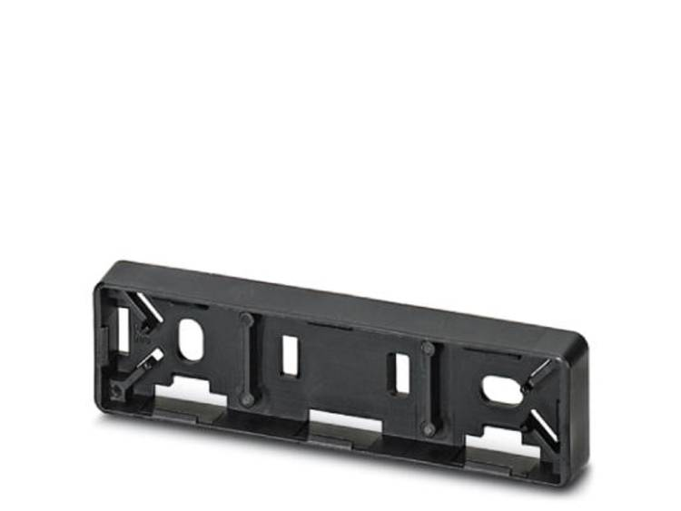Apparaatmarkering Montagemethode: Vastklemmen Markeringsvlak: 60 x 15 mm Geschikt voor serie Toetsen en schakelaars 22 mm Zwart Phoenix Contact CARRIER-EMP
