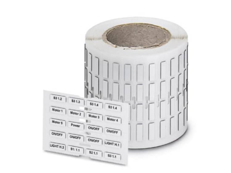Apparaatmarkering Montagemethode: Plakken Markeringsvlak: 22 x 22 mm Geschikt voor serie Apparatuur en schakelapparatuur, Universeel gebruik Zilver Phoenix