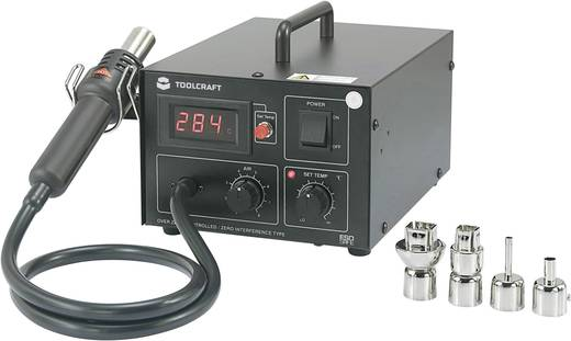Heteluchtstation Digitaal 550 W TOOLCRAFT AT850D +100 tot +480 °C