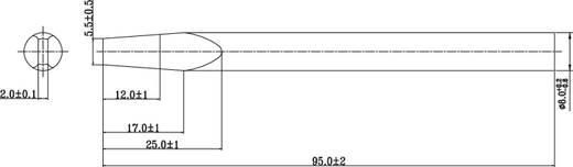 TOOLCRAFT Soldeerpunt Beitelvorm Grootte soldeerpunt 8 mm Lengte soldeerpunt 95 mm