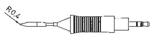 Weller RT2 Soldeerpunt Puntvorm Grootte soldeerpunt 0.8 mm