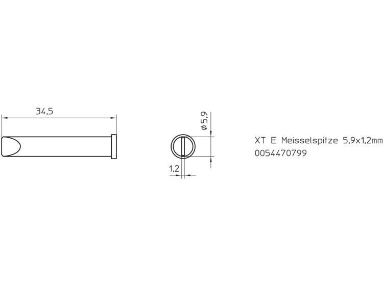 Weller Professional XT-E Soldeerpunt Beitelvorm Grootte soldeerpunt 5.9 mm