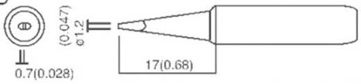 TOOLCRAFT T-1,2D Soldeerpunt Beitelvorm Grootte soldeerpunt 1.2 mm Lengte soldeerpunt 17 mm