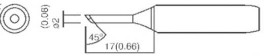 TOOLCRAFT T-2C Soldeerpunt Afgeschuind 45° Grootte soldeerpunt 2 mm Lengte soldeerpunt 17 mm