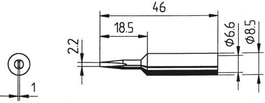 Ersa 832 CD LF Soldeerpunt Beitelvorm, recht Grootte soldeerpunt 2.2 mm