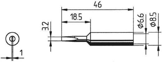 Ersa 832 ED LF Soldeerpunt Beitelvorm, recht Grootte soldeerpunt 3.2 mm