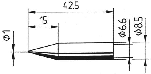 Ersa 842 BD LF Soldeerpunt Potloodvorm, Ersadur Grootte soldeerpunt 1 mm