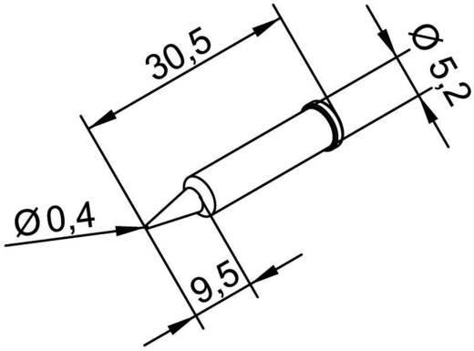 Ersa 102 PD LF 04 Soldeerpunt Potloodvorm, Ersadur Grootte soldeerpunt 0.4 mm