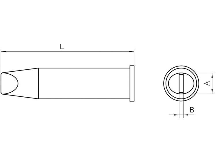 Weller Professional XHT E Soldeerpunt Beitelvorm Grootte soldeerpunt 7.6 mm