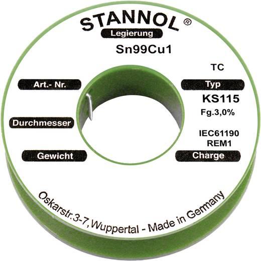 Stannol KS115 Soldeertin, loodvrij Spoel SN99Cu1 250 g 1.0 mm