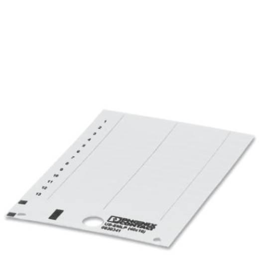 Apparaatmarkering Montagemethode: Plakken Markeringsvlak: 40 x 10 mm