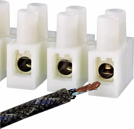 Kroonsteen Flexibel: 2.5-6 mm² Massief: 2.5-6 mm² Aantal polen: 12 1 stuks Wit