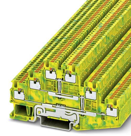 Phoenix Contact PT 1,5-S-3PE PT 1,5/S-3PE - randaarde-serieklem Groen-geel Inhoud: 50 stuks