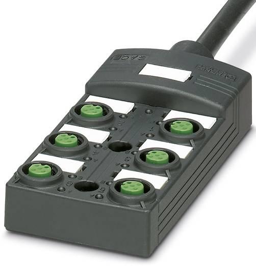 Passieve sensor/actorbox M12-verdeler met kunstof schroefdraad SACB-6 / 12