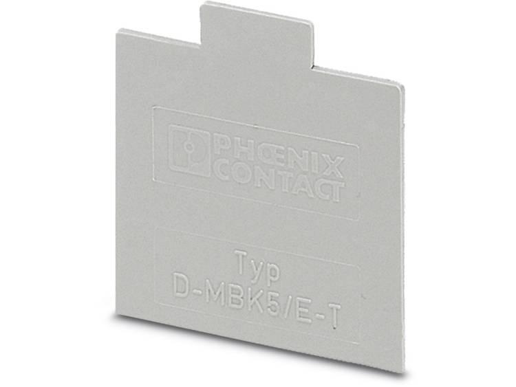 D-MBK 5/E-T - afsluitdeksel D-MBK 5/E-T Phoenix Contact Inhoud: 50 stuks